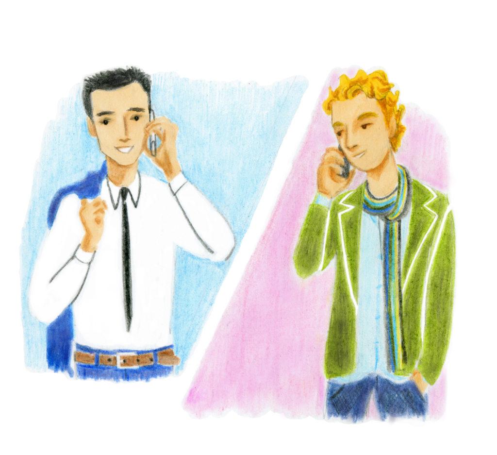 Французский для начинающих. Диалог с аудио. Друзья говорят по телефону.