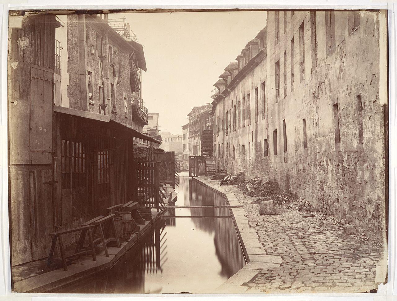 Бьевр - приток Сены. 1865 г.