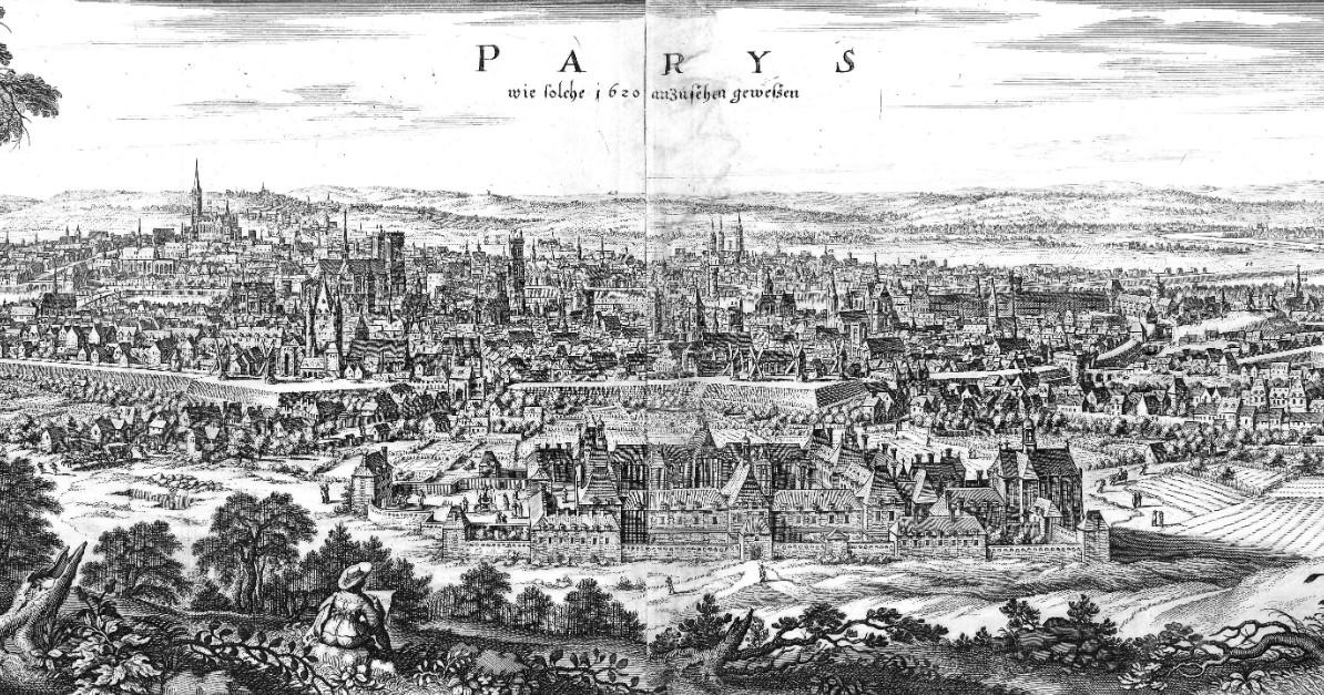 Общий вид Парижа, 1620 год